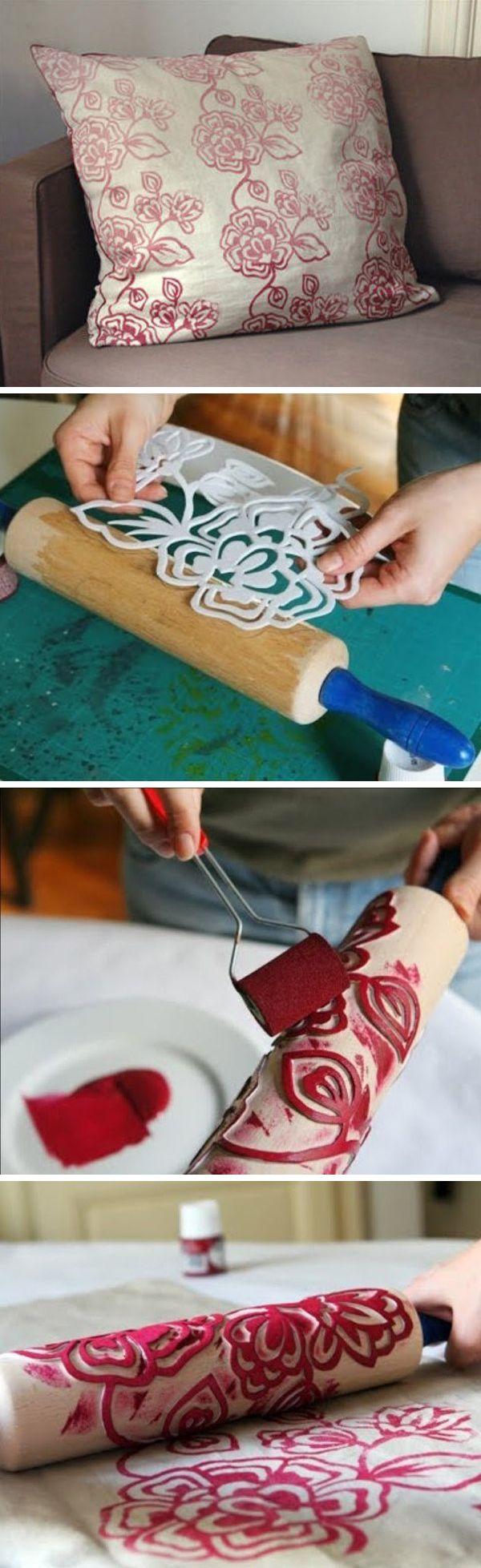 Crear un cojín con diseño en foami sobre rodillo