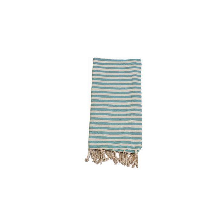 Mediterranean Turquoise Cotton Turkish Towel