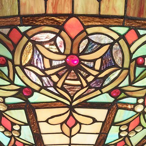 "Corazon Bronze 25"" Wide Robert Louis Tiffany Pendant Light - #2X409   Lamps Plus"
