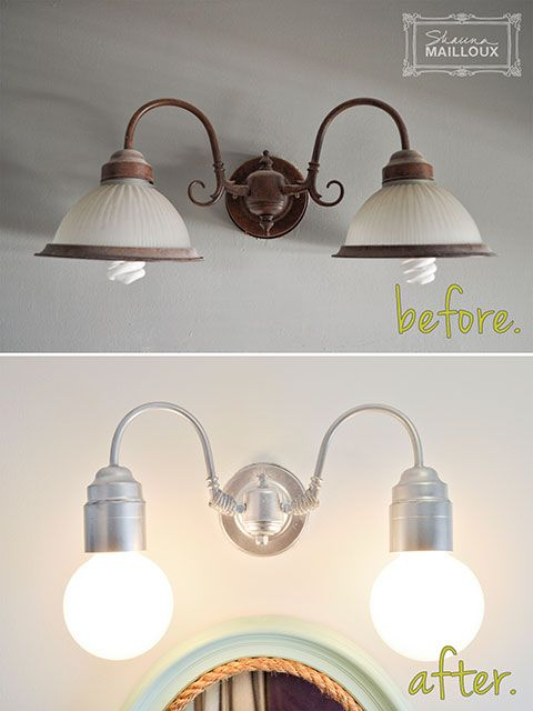 Best 25 Light Fixture Makeover Ideas On Pinterest Paint Fixtures Easy Kitchen Updates And Dyi