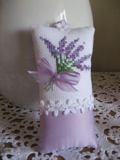 Passion Fruit Princess: Cross Stitch Lavender Sachet