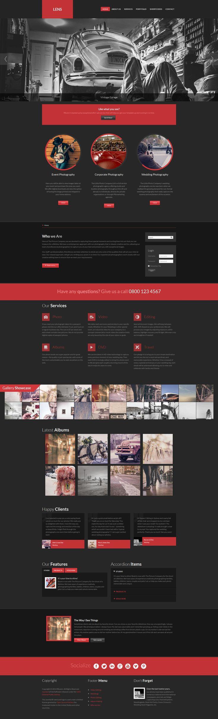 RSLens! template - a focus on showcasing photos