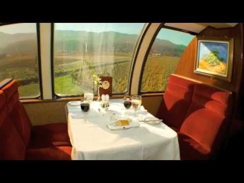 Nappa Valley Wine Train!  A video tour of the Vista Dome Car.  One of the many fine dining options available at the Napa Valley Wine Train, the Napa Valley's most unique restaurant.