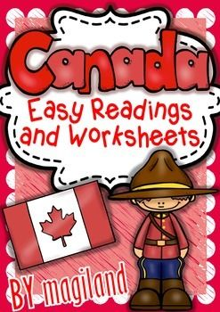 CANADA ( READY TO PRINT EASY READINGS AND WORKSHEETS) - TeachersPayTeachers.com
