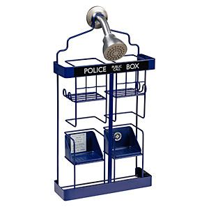 Doctor Who TARDIS Shower Rack $44.99 if this ever goes on sale I think I may just buy it!