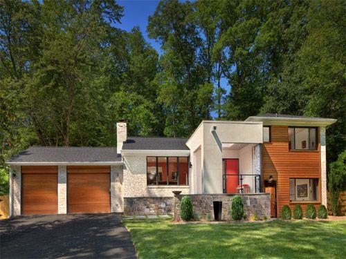 77 best images about exterior split levels on pinterest for Split level ranch remodel