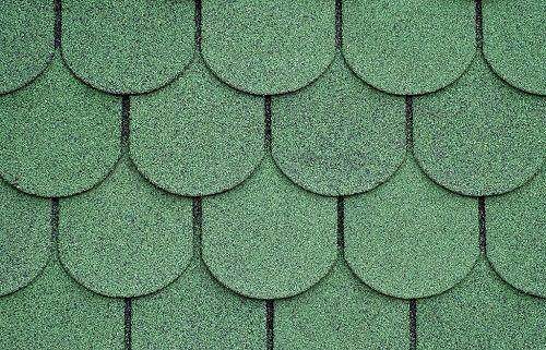 zielona dachówka bitumiczna w plastry