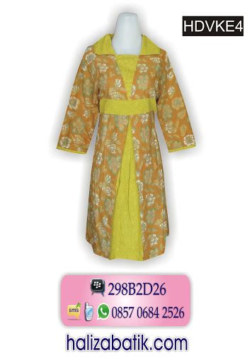Dress eksklusif bahan katun kombinasi emboss Rp 165.000,- Pemesanan via SMS 085706842526