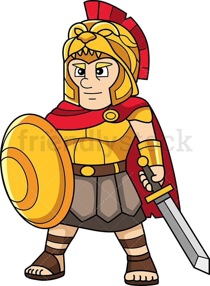 Alexander the great cartoon clipart vector friendlystock