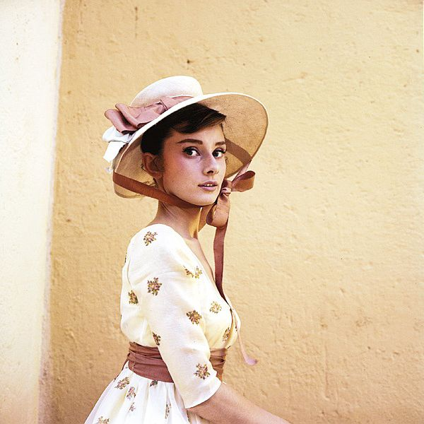 Audrey Hepburn on the set of War and Peace, 1955.  Pictures by photographer Milton H. Greene.