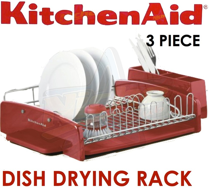 Red kitchen aide dish drainer bing images kitchen aid and other awesome kitchen things - Kitchenaid dish rack red ...