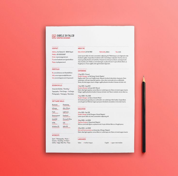 66 best Дизайн резюме images on Pinterest Resume cv, Design - cool free resume templates
