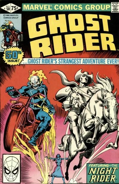 The secret of Marvel's first Ghost Rider! To avoid confusion with Johnny Blaze, he is called Night Rider! Oops: