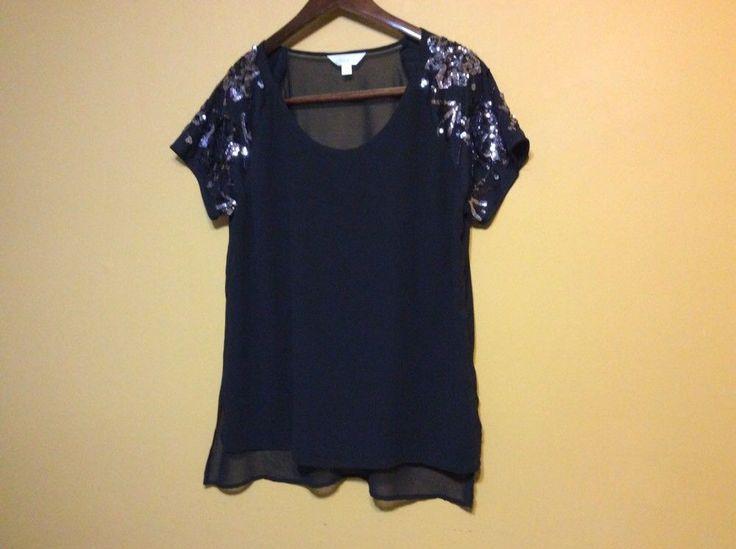 Ladies Black Evening Blouse by Decree(size x large)  | eBay