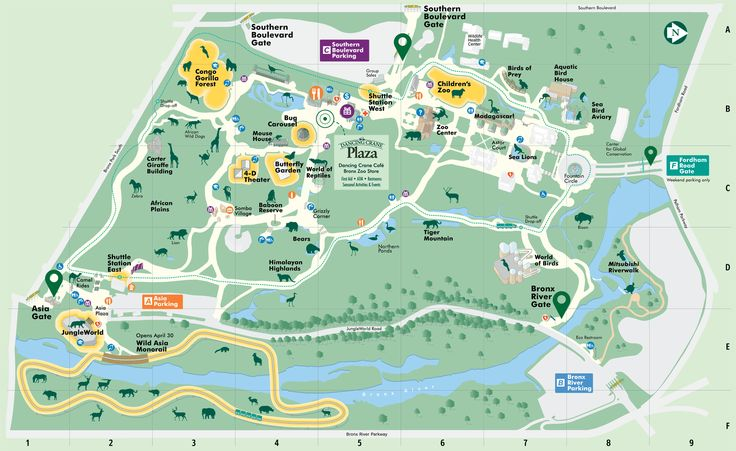 Map - Bronx Zoo