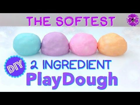 DIY Super Soft Play Dough! No Cook, 2 Ingredients! - YouTube