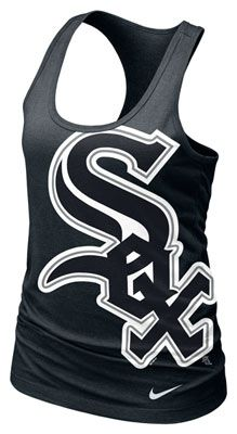 Chicago White Sox MLB Nike Women's Black Cotton Racerback Tank