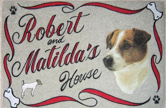 Jack Russell Terrrier Personalized Dog Door Mat Airbrush