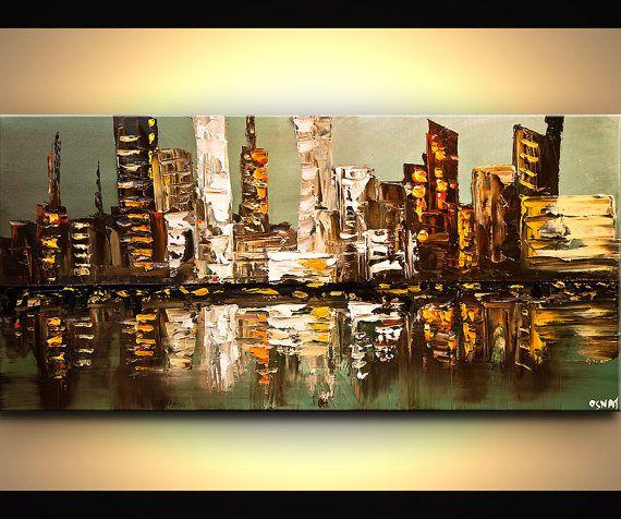 Modern Art Poster on Photographic Paper  City por OsnatFineArt