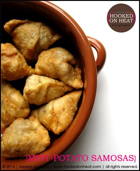 Need another kids lunchbox idea? Here's one of Baby Dear's favourites - Mint-Potato Samosas, recipe here: http://www.hookedonheat.com/2014/07/16/kids-lunchbox-idea-minty-potato-samosas/  For more simple, healthy and mouth-watering recipes the whole family will love, head on over to www.hookedonheat.com  #indianfood #indiancooking #indian101
