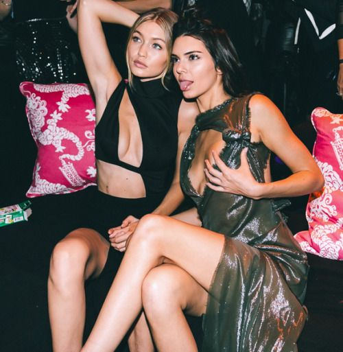 "senyahearts: ""Gigi Hadid and Kendall Jenner - 2015 Victoria's Secret Fashion Show After Party, NYC (11/10/2015) """