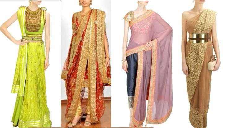 Different Styles of Saree Draping Latest Designer Sarees Collection 2018