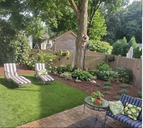 Artificial Grass Can Be The Perfect Touch To Any Outdoor Living Space In 2020 Garden Design Outdoor Patio Design