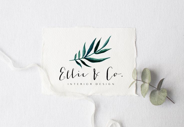 premade logo design · palm leaf · watermark logo · watercolor graphic · photography shop logo · premade branding kit · small business logo by saltandcove on Etsy https://www.etsy.com/listing/464224693/premade-logo-design-palm-leaf-watermark