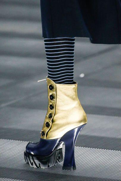 Miu Miu Platform Booties Fall 2013 #MiuMiu #Shoes