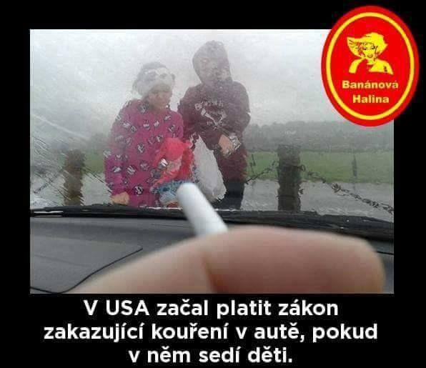 V USA začal platit zákon zakazující kouření v autě, pokud v něm sedí děti.
