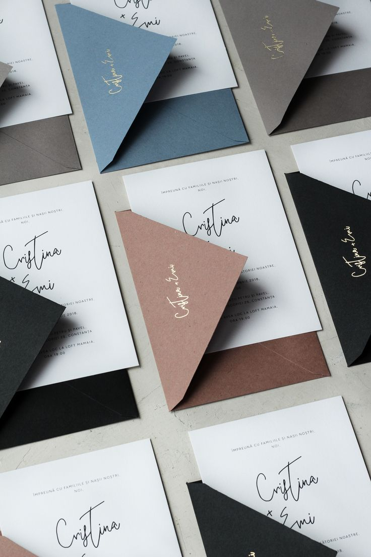 minimal wedding invitations handmade envelopes with gold foil