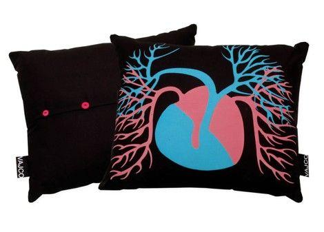 Pillow Heartbeat / designed by Eva Hanzalová / 23,- € / www.vajco.cz