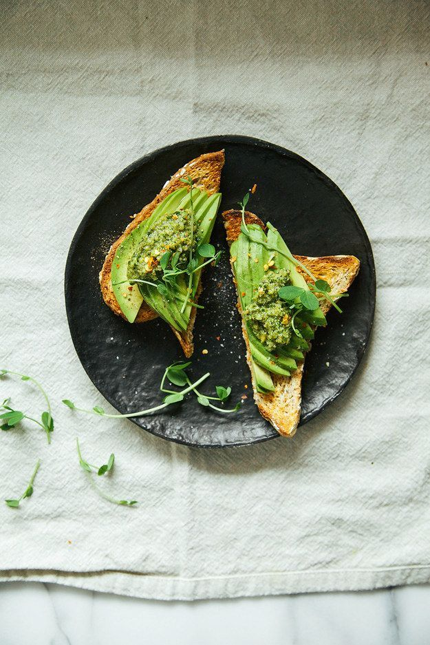 pesto w/ pea shoots, walnuts + mint | Laura, The First Mess for BuzzFeed @buzz