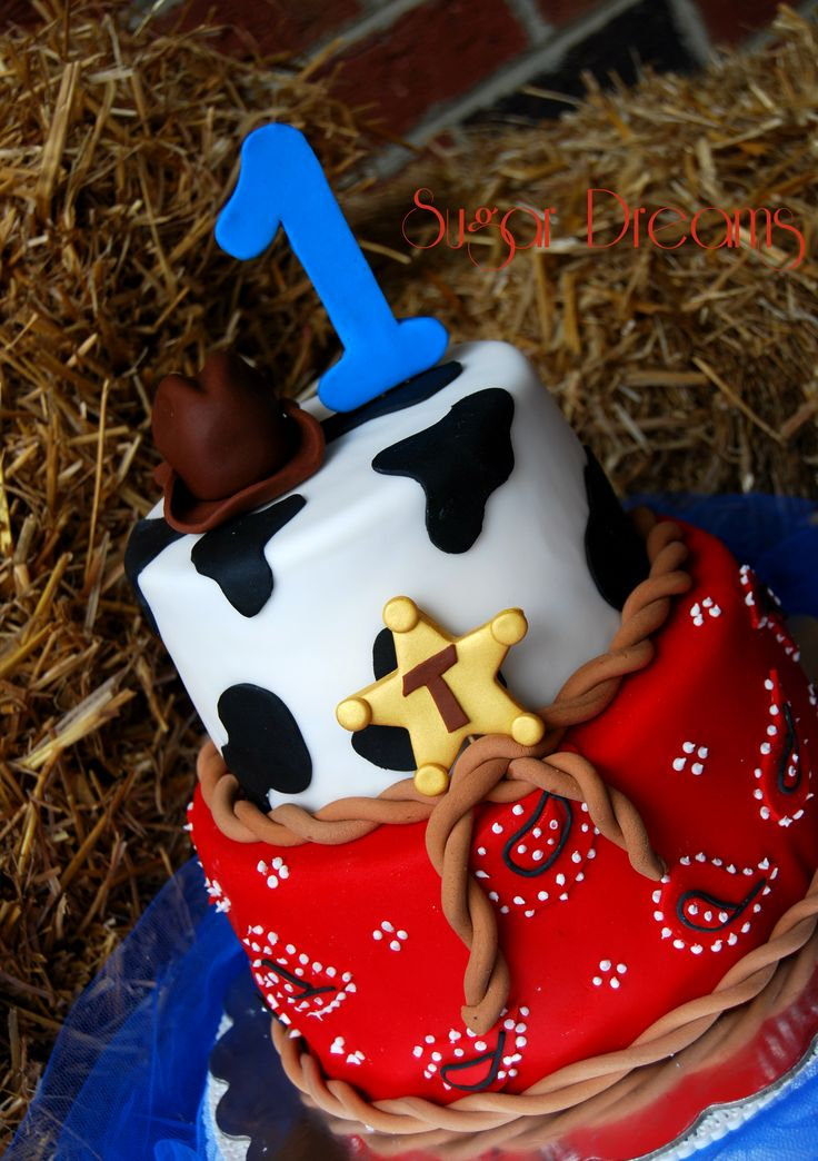 Birthday Cake Photos - For a cute little cowboy !!!