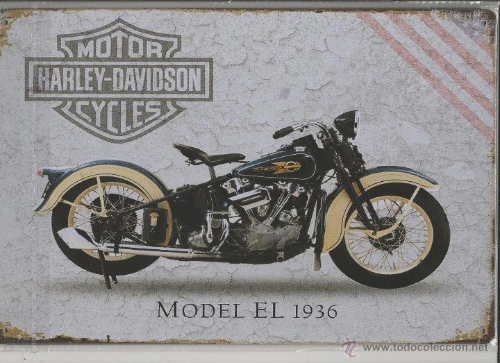CARTEL DE METAL 20X30 CM -1 HARLEY DAVIDSON