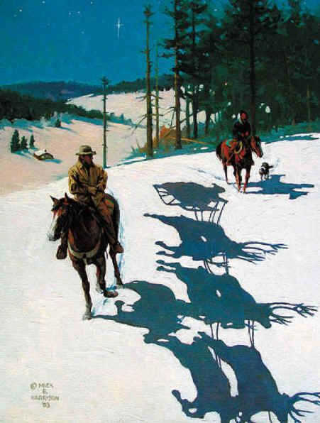 """A Christmas Tale"" by Mick Harrison    Cowboy Poetry at the BAR-D Ranch   www.CowboyPoetry.com"