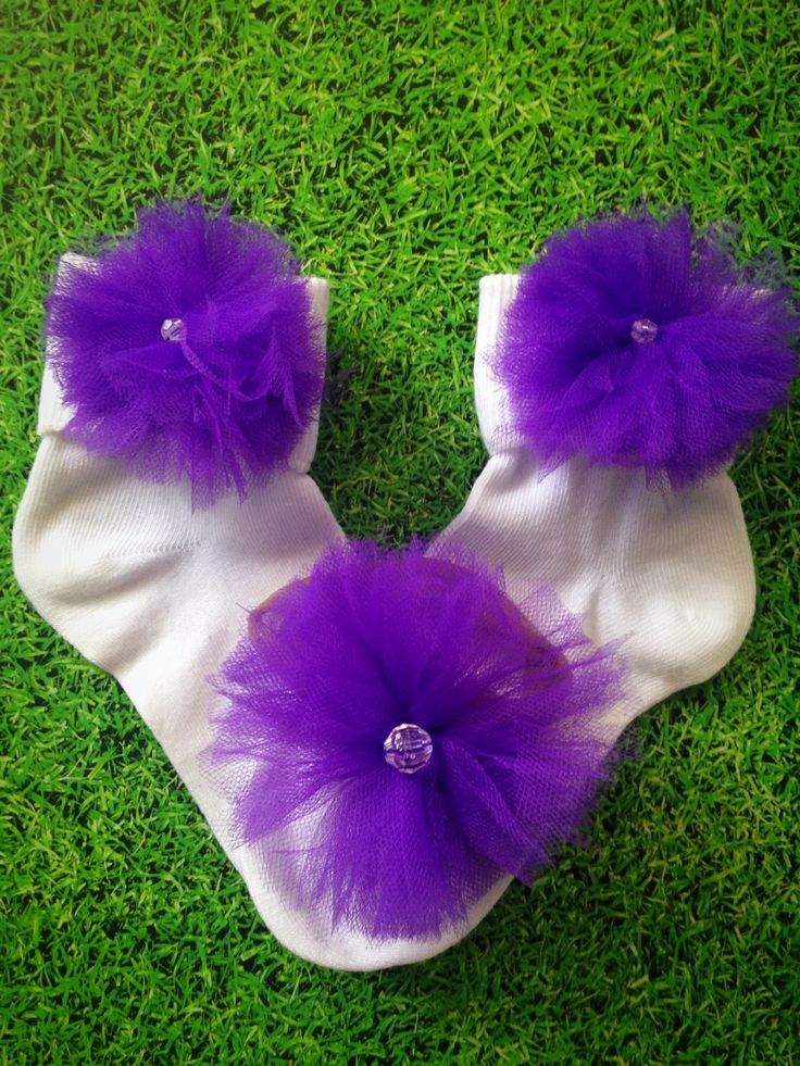 Fluffy Tulle Sock and Headband Set