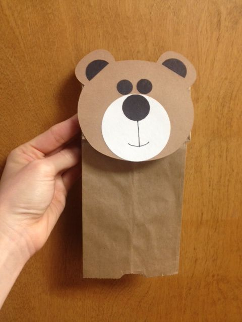 """""""We conduct weekly Story Times and the bear face cut outs were used as a craft for preschool aged students to make their own puppet after reading  """"Bears New Friend""""."""