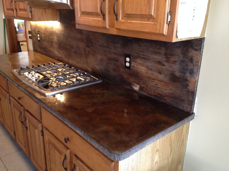 Acid Stain Concrete Countertops Kitchen Pinterest Ideas Trees And Stains