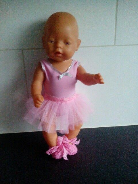 Ballerina outfit babyborn (43cm) los/verwijderbaar/verwisselbaar tutu-rokje