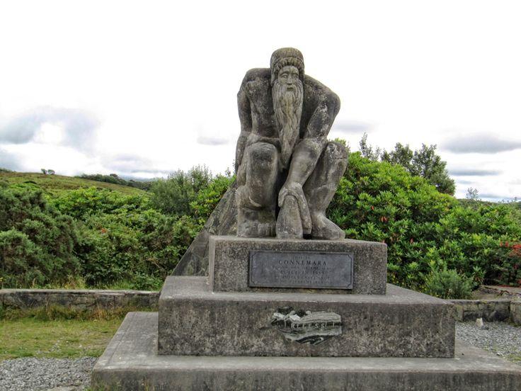 Sculpture depicting Connemara at Recess, Galway #photographs #photography #landscapephotographs #irishphotographs #landscape #daily #dailyphotographs