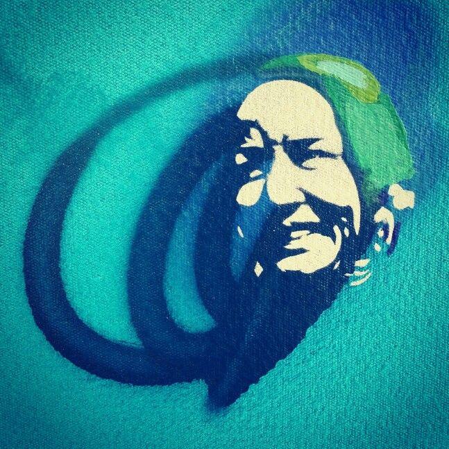 Edie (detail) - Alex Hamilton Stencil Pop Artist