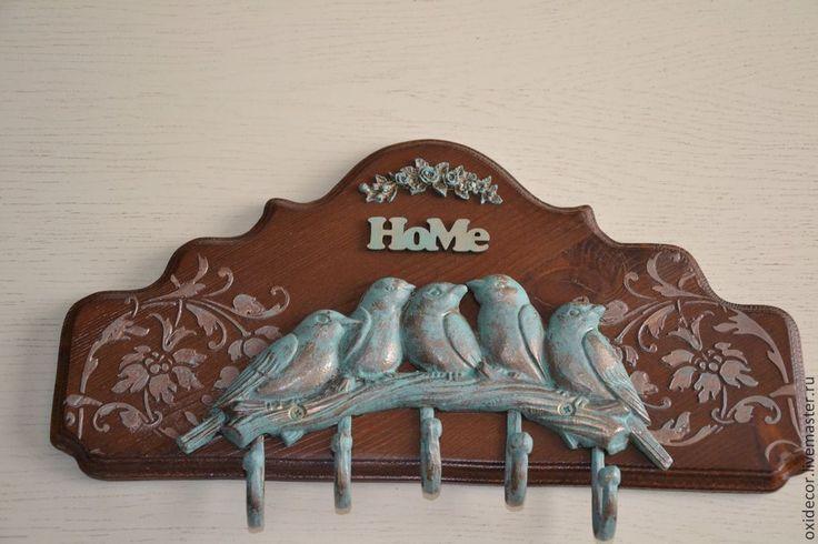 Купить ВЕСНА ПРИШЛА - коричневый, прихожая, вешалка, вешалка для кухни, Вешалка для полотенец, вешалка для ключей