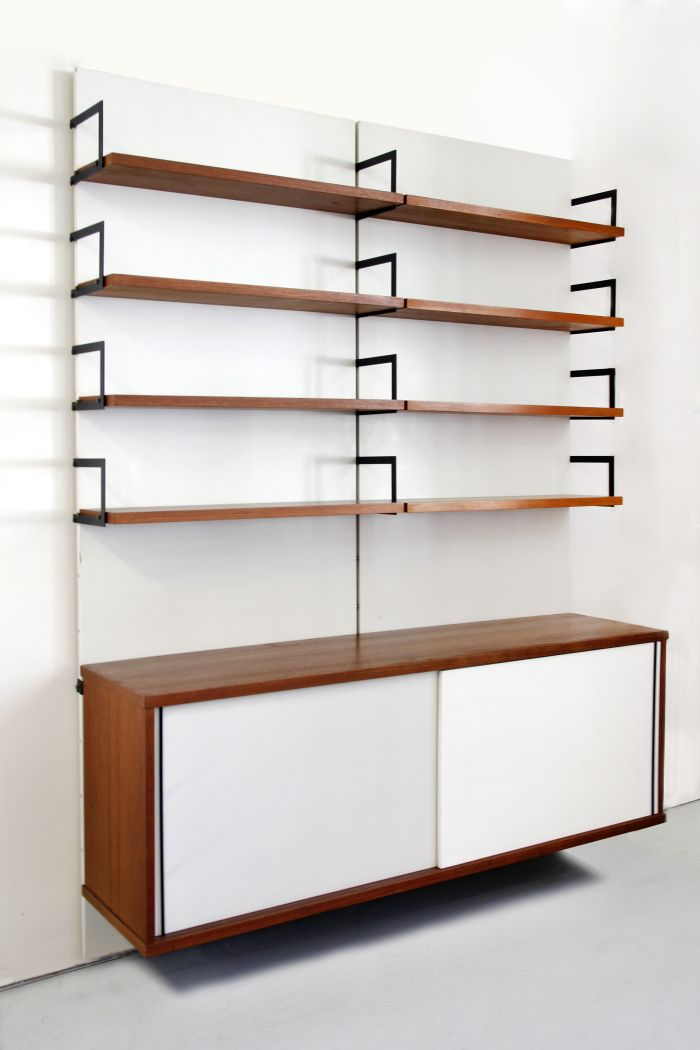 Cees Braakman; Japanese Series Wall System for Pastoe, c1960.