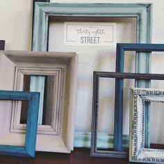 Thirty Eighth Street | DIY Picture Frame Collage. Click To Learn How To Update Your Old Picture Frames In Less Then One Hour!