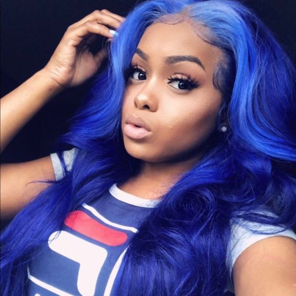 Dark Blue Lace Front Wig Hair Styles Blue Lace Front Wig