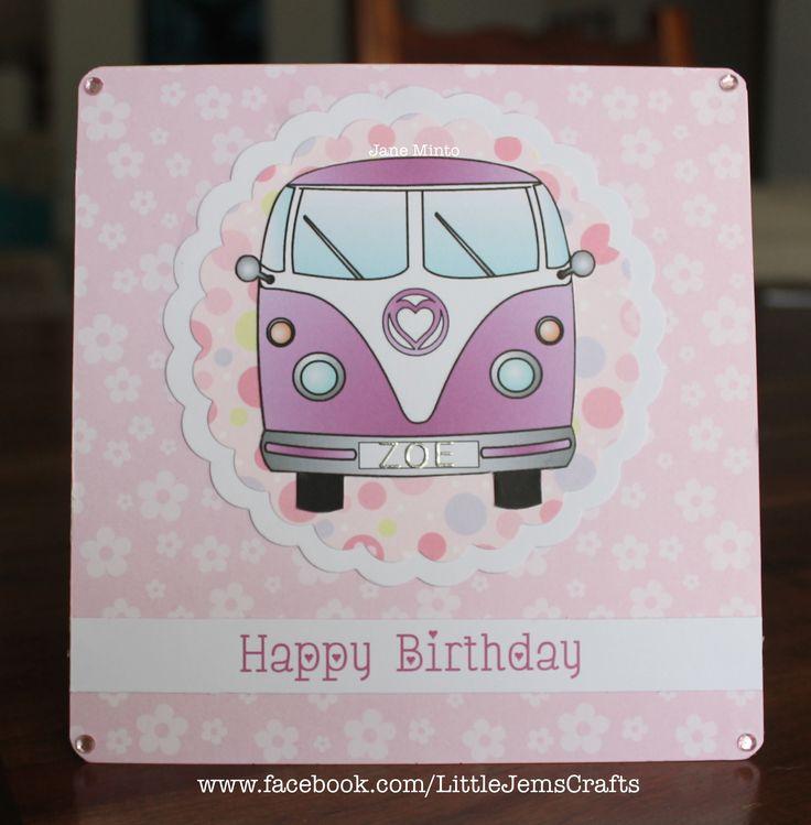 pink, pink and more pink! camper van card in pink :)