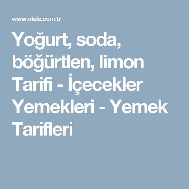 Yoğurt, soda, böğürtlen, limon Tarifi - İçecekler Yemekleri - Yemek Tarifleri