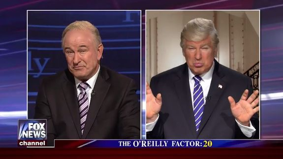 Alec Baldwin plays both Donald Trump and Bill O'Reilly in searing 'SNL' skit