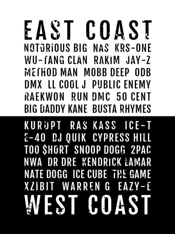 Rap Poster East West Coast Hiphop Rappers Subway